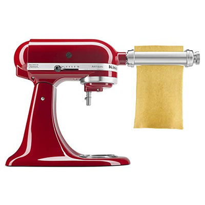 Kitchenaid KSMPRA 3-Piece Pasta Roller & Cutter Attachment Set, Silver