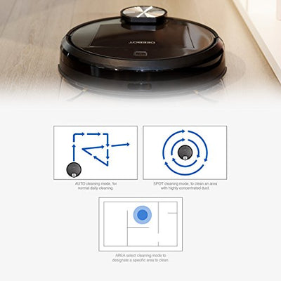 ECOVACS DEEBOT R95 Robotic Vacuum with the latest mapping technology, Wi-Fi ; perfect for bare floors and carpets, and homes with pets
