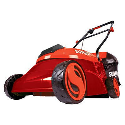 "Snow Joe MJ401C-XR-RED 14"" 28V 5Ah Cordless Lawn Mower, Red"