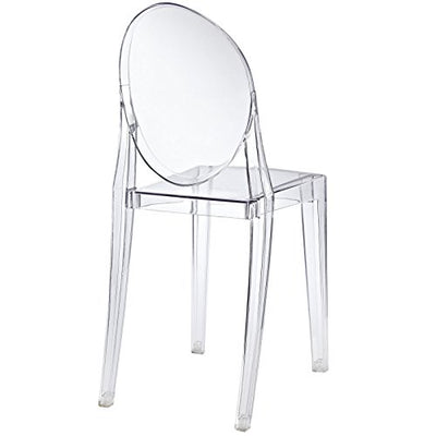 Modway 4 Philippe Starck Style Victoria Ghost Chair Set