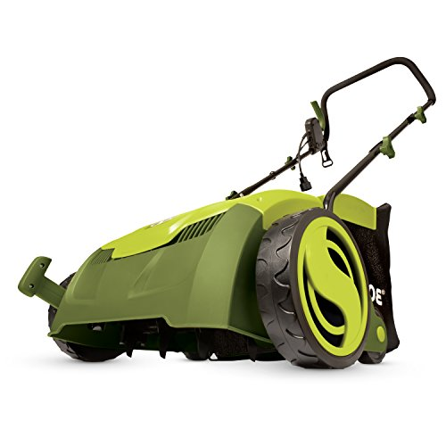 "Sun Joe AJ801E 12 Amp 13"" Electric Scarifier Plus Lawn Dethatcher with Collection Bag"