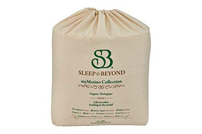 Sleep & Beyond 60-Inch by 80-Inch Organic Merino Wool Mattress Topper, Queen, Ivory