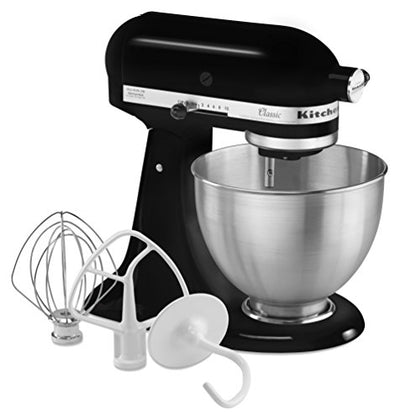 KitchenAid K45SSOB Classic 4.5 Quart Stand Mixer, Onyx Black
