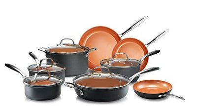 Gotham Steel Professional- 13 Piece Hard Anodized Premium Cookware Set with Ultimate Nonstick, Oven and Dishwasher Safe