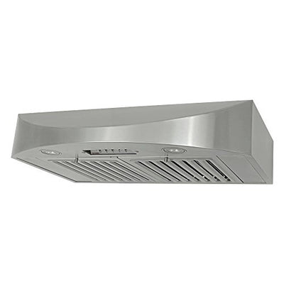 Kobe Range Hoods CHX3830SQB-2 Contemporary Brillia 30-Inch Under Cabinet Hood, 3-Speed, 650 Cfm, Led Lights, Baffle Filters, Stainless Steel