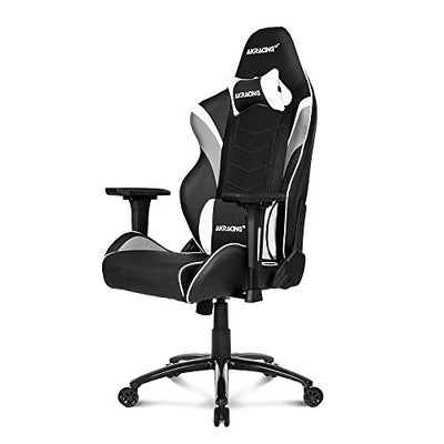 AKRacing Core Series LX Gaming Chair with High Backrest, Recliner, Swivel, Tilt, Rocker and Seat Height Adjustment Mechanisms - White