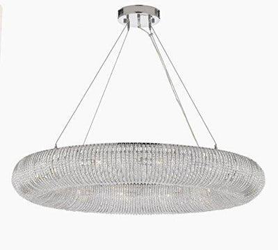 "Crystal Halo Chandelier Modern / Contemporary Lighting Floating Orb Chandelier 41"" Wide - Good for Dining Room, Foyer, Entryway, Family Room and More!"