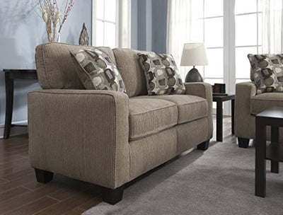 Serta at Home Santa Cruz Collection Love Seat, Platinum Fabric, CR-43529 - CR43529PB
