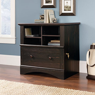 Sauder 403681 Harbor View Lateral File, Antiqued Paint Finish
