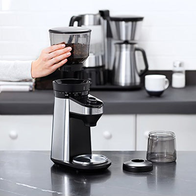 On 8710200 OXO Barista Brain Conical Burr Coffee Grinder with Integrated Scale, Silver