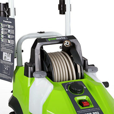 Greenworks GPW1950 13 Amp 1950 PSI 1.2 GPM Electric Pressure Washer with Hose Reel