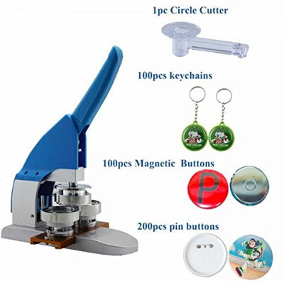 "New Pro 2-1/4"" 58mm Badge Button Maker Machine Kit"