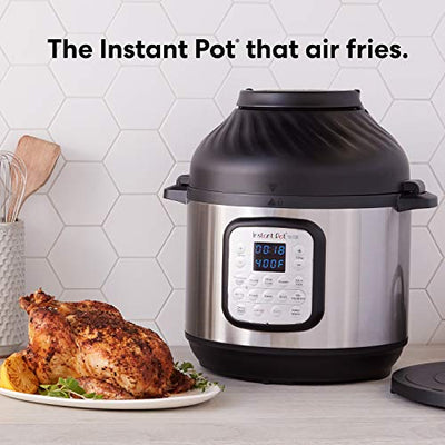 Instant Pot Duo Crisp 11-in-1 Air Fryer, Electric Pressure Cooker, Slow Cooker, Steamer, Saute, Sous Vide, Roast, Bake, Broil, and Warmer|8 Quart|11 One-Touch Programs