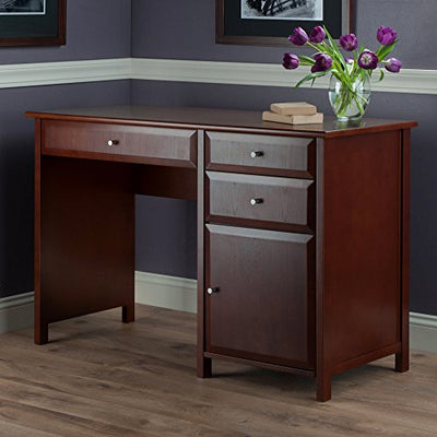 Winsome Wood 94147 Delta Office Writing Desk Walnut