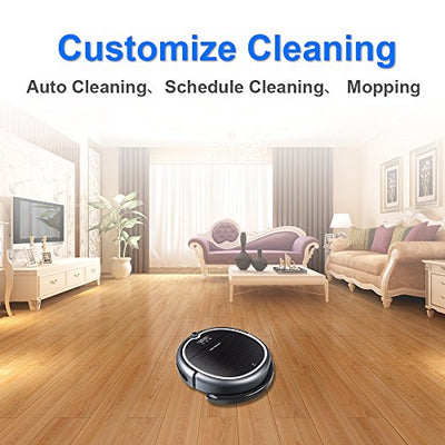 Liectroux Q8000 Robot Vacuum Cleaner WiFi APP Control, 2D Map Navigation, Smart Memory, Voice Prompt, Designed Hard Floor Short-Pile Carpet