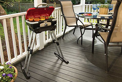 "Cuisinart CGG-180 Petit Gourmet Portable Gas Grill with VersaStand, Red, 31.5"" X 16.5"" X 16"""