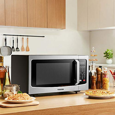 Toshiba EC042A5C-SS Convection Microwave with Sensor Cooking Function, 1.5 Cu.ft, Stainless Steel