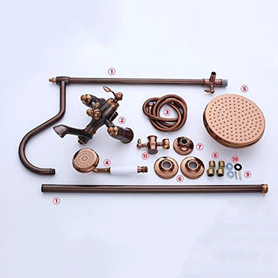 QPGGP-take a Shower Antique All Copper Shower Suit European Style Ming Suit Shower Set Cold and hot Shower Set