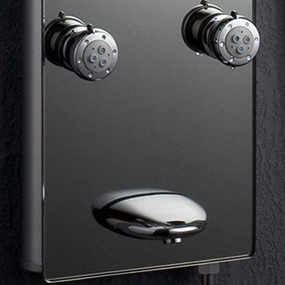 "AKDY AK-787392M 52"" Tempered Glass Aluminum Shower Panel Rain Style Massage System, Silver"