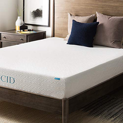 Lucid 8 Inch Memory Foam Mattress, Dual-Layered, CertiPUR-US Certified, Medium-Firm Feel, Cal King Size