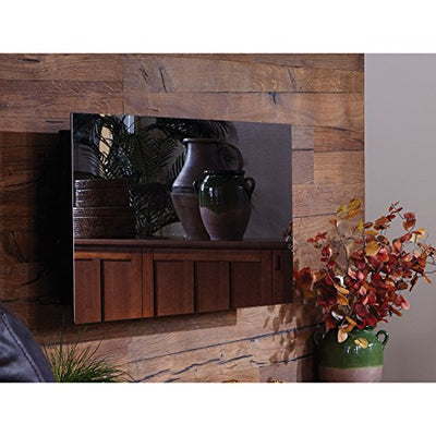 "Touchstone Mirror Onyx 50"" Electric Wall Mounted Fireplace with Heater - Black w/Mirror Glass"