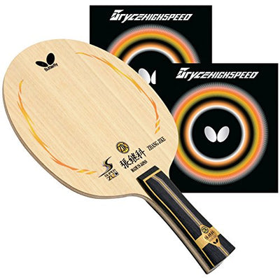 Butterfly CMR187 Zhang Jike Super ZLC FL Blade with Bryce High Speed 2.1 Red/Black Rubbers Pro-Line Table Tennis Racket