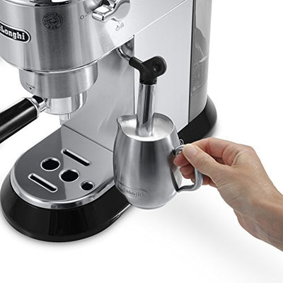 DeLonghi EC680 Dedica 15 Bar Slim Espresso and Cappuccino Machine with Advanced Cappuccino System, Stainless Steel
