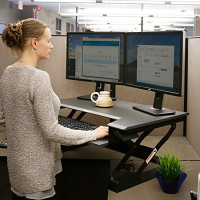 Ergotron Work Fit-T Sit-Stand Desktop Workstation Stand with Table Mount (33-397-085)