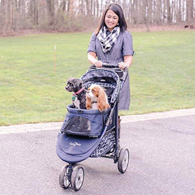 Gen7Pets Monaco Pet Stroller for Dogs or Cats, Black Geometric