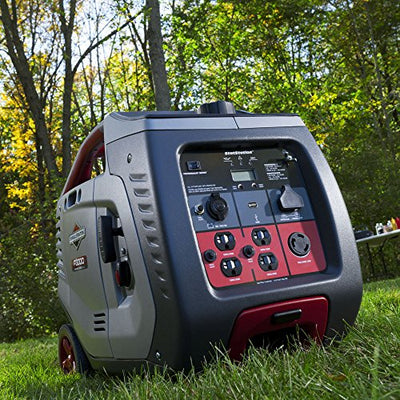 Briggs & Stratton 30545 P3000 PowerSmart Series Portable 3000-Watt Inverter Generator with (4) 120-Volt AC Outlets and (1) 12-Volt DC Outlet