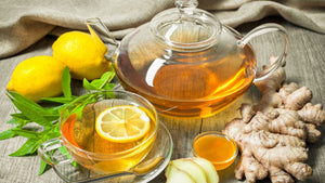Ginger, Astragalus Tea For Sore Throat