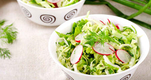 flex health and wellness recipes cabbage raddish slaw