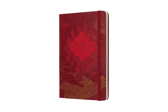 Harry Potter Moleskine Harry Potter 18M Weekly Marauder's Map Red Planner - Accio This