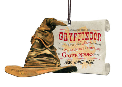 Harry Potter Personalized Sorting Hat Gryffindor Hanging Acrylic Print - Accio This