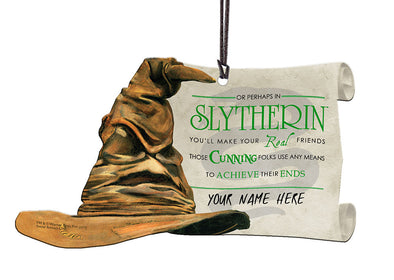 Harry Potter Personalized Sorting Hat Slytherin Hanging Acrylic Print - Accio This