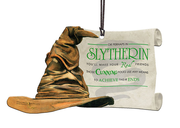 Harry Potter Sorting Hat Slytherin Hanging Acrylic Print - Accio This