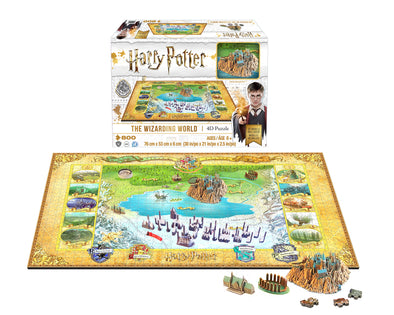 Harry Potter Wizarding World Hogwarts & Hogsmead 4D Puzzle