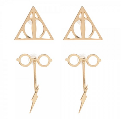 Harry Potter Harry Potter Double Drop Earring Set - Accio This