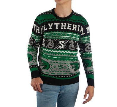 Harry Potter Slytherin Knit Sweater - Accio This