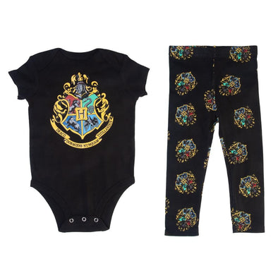 Harry Potter Hogwarts Crest Baby Onesie and Legging Set - Accio This