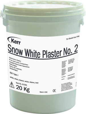 Snow White Impression Plaster 4,5Kg Ds