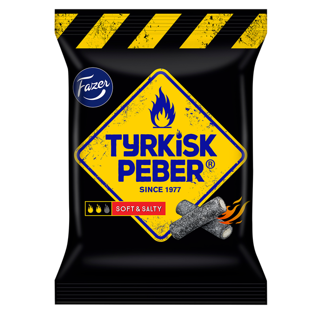 Tyrkisk Peber Soft & Salty liquorice 120 g - Fazer Candy Store