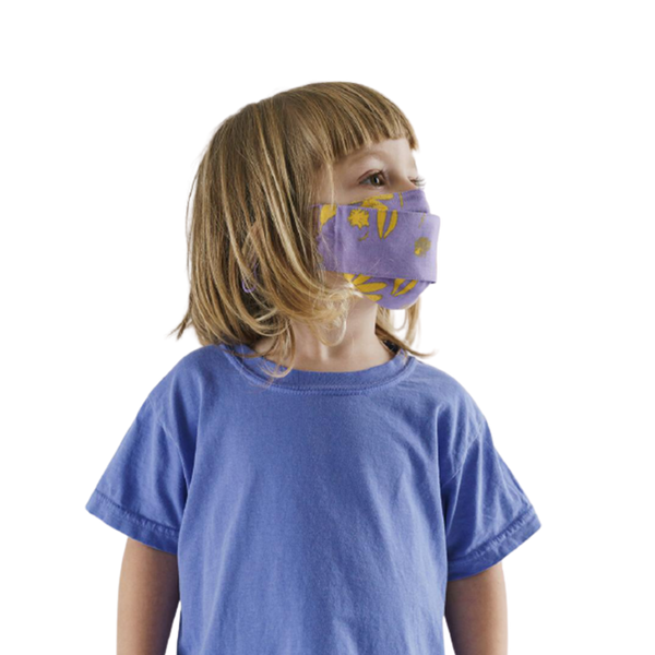 Kids Fabric Mask Set Loop - Floral Sun Prints