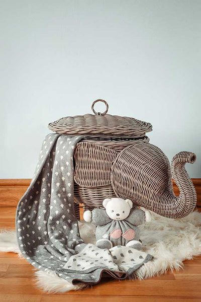 Elephant Rain Drop Baby Blanket