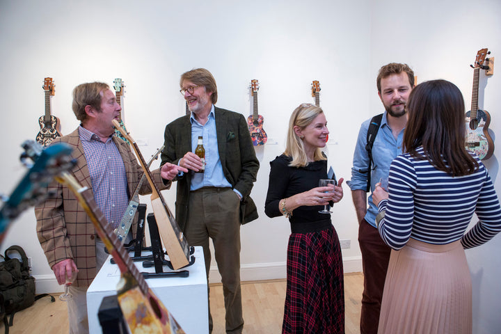 Art on a Ukulele Private View