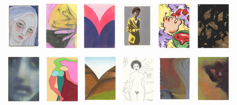 12 postcard lots from our upcoming She Curates x AOAP auction