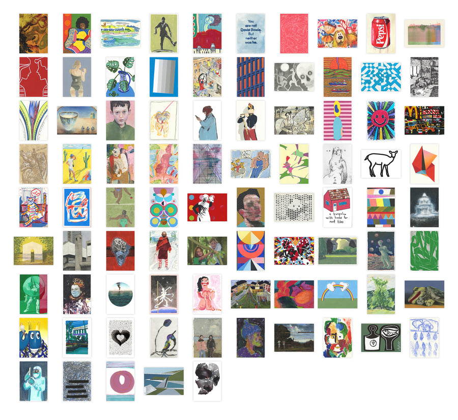 Art on a Postcard 2020 Boxset of 85 cards