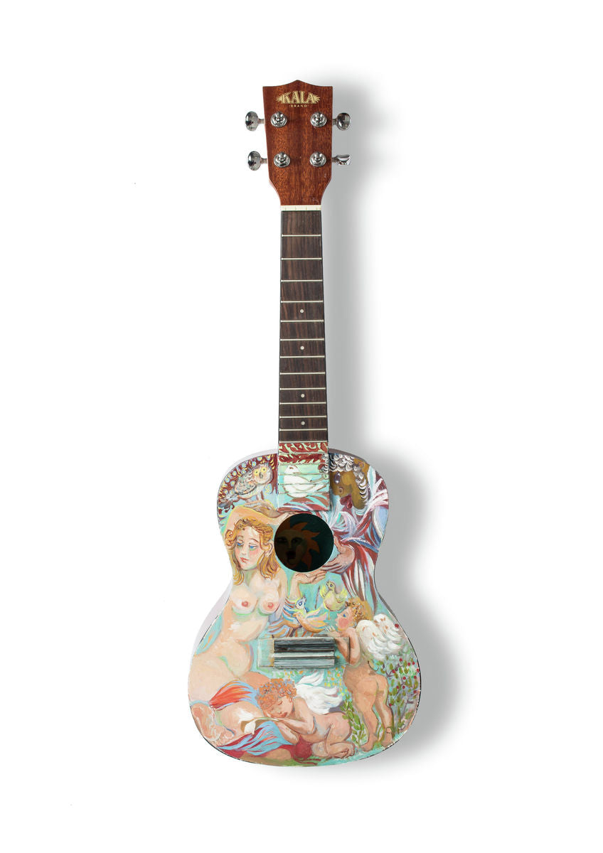 Eugenie Vronskaya - A6 Art on a Ukulele Print