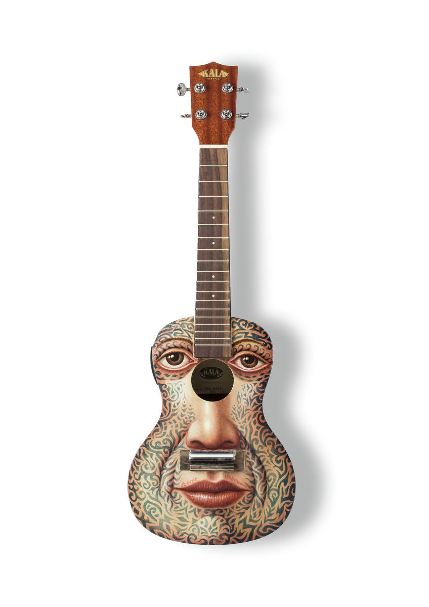 George Underwood - A6 Art on a Ukulele Print