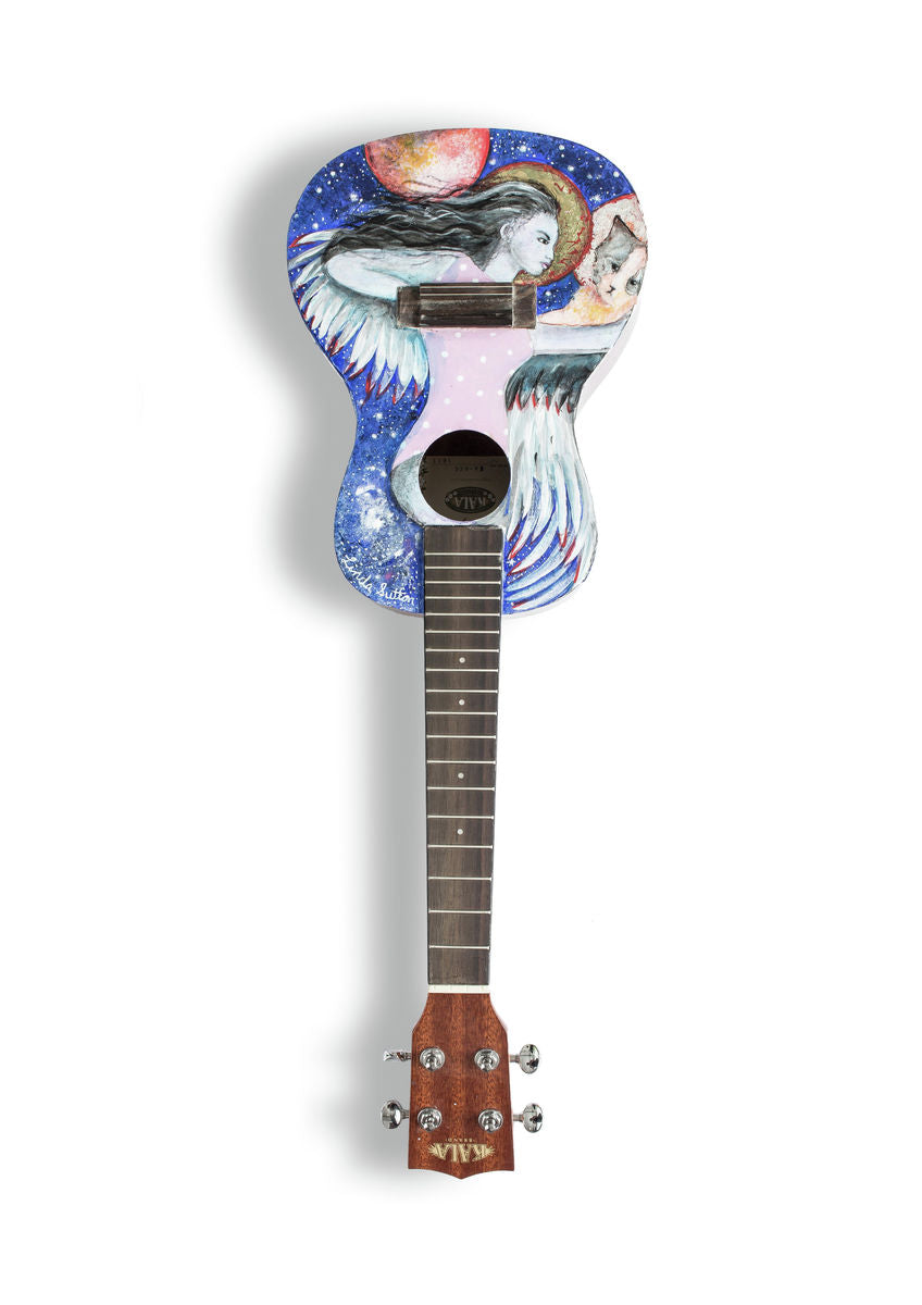 Linda Sutton - A6 Art on a Ukulele Print